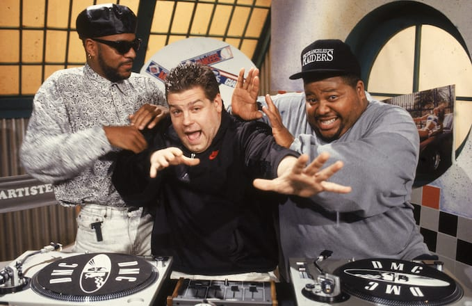 'Yo! MTV Raps' producer Ted Demme with hosts Ed Lover and Dr. Dré.
