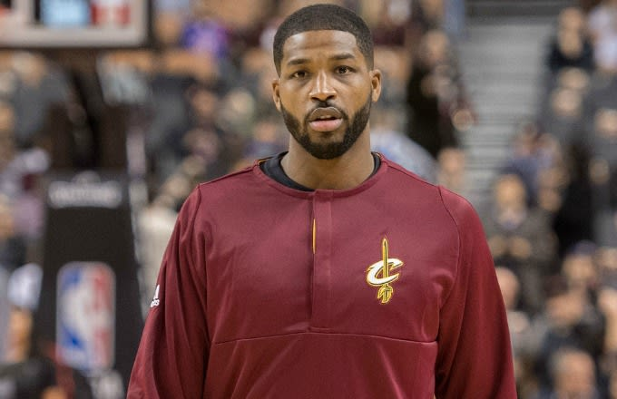 Tristan Thompson before a Cavaliers game.