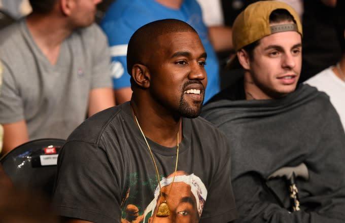 Kanye West at UFC 202.