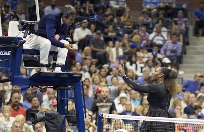 Serena Williams argues Carlos Ramos