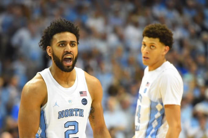 Tar Heels Joel Berry II and Justin Jackson
