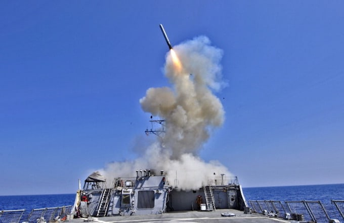 Image result for us attacks with tomahawk missile syria 2017