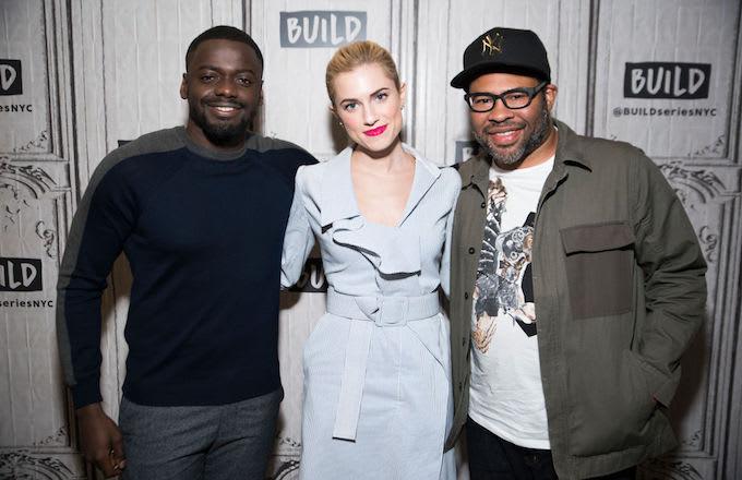 'Get Out' stars Daniel Kaluuya and Allison Williams with director Jordan Peele.