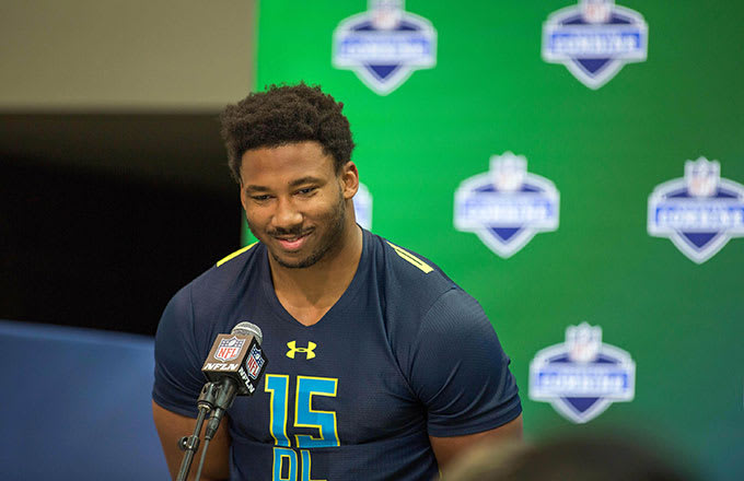 Consensus No. 1 pick Myles Garrett studied Buffalo Bills legend Bruce Smith