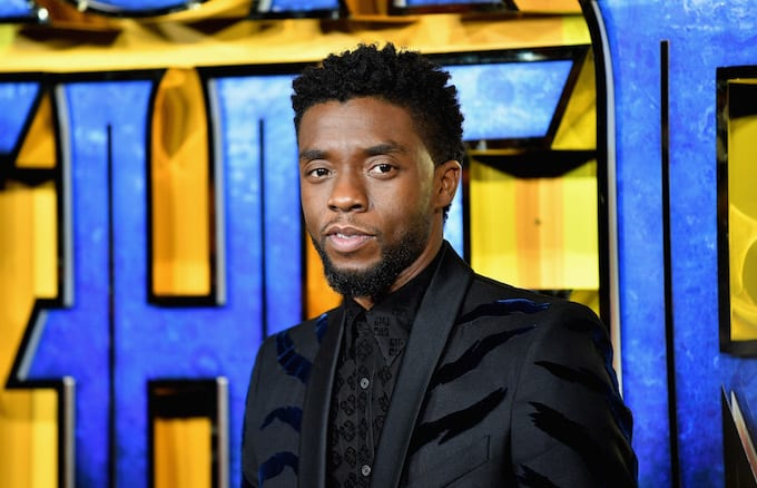 Chadwick Boseman at the European premiere.