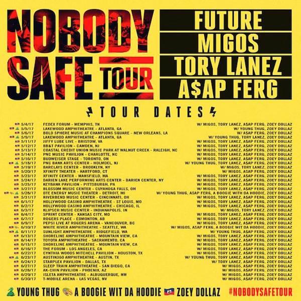 Future tour schedule