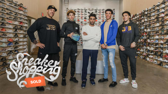 b4db3e7751d Ball Family Sneaker Shopping. Image via Complex Original