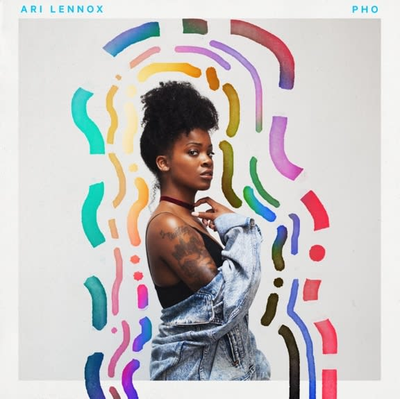 This is Ari Lennox's 'PHO' EP cover art.