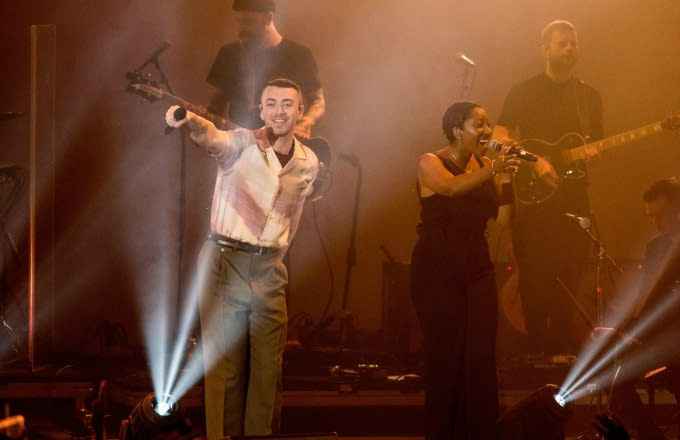 Sam Smith performs.