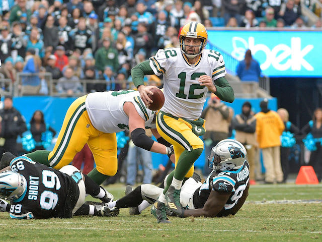 This is a picture of Aaron Rodgers.