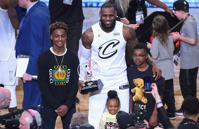 d57be0b16bb Watch LeBron Masterfully Coach His Son After He Misses Shots