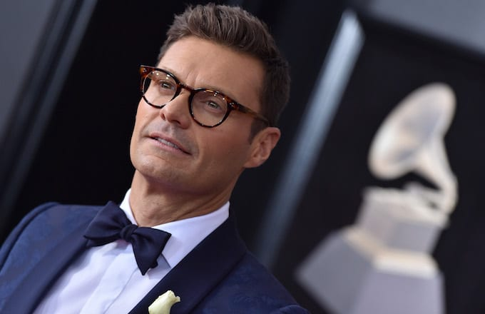 Ryan Seacrest attends the 60th Annual Grammy Awards at Madison Square Garden.