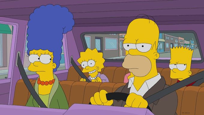 This is a picture of The Simpsons.