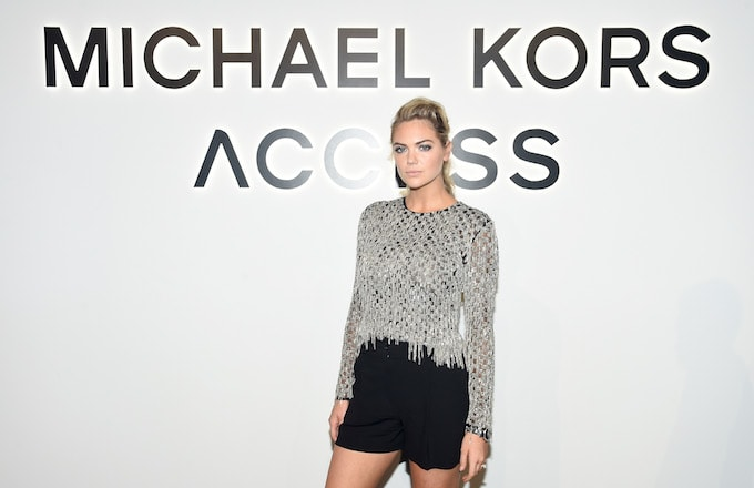 Kate Upton attends Michael Kors/Google event.