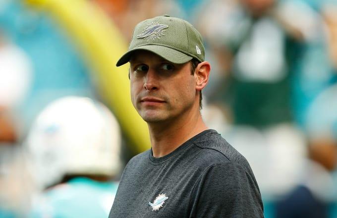 Head coach Adam Gase of the Miami Dolphins