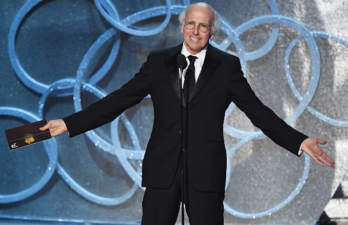 Larry David speaks onstage during the 68th Annual Primetime Emmy Awards