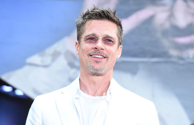 Brad Pitt attends the premiere for 'War Machine.'