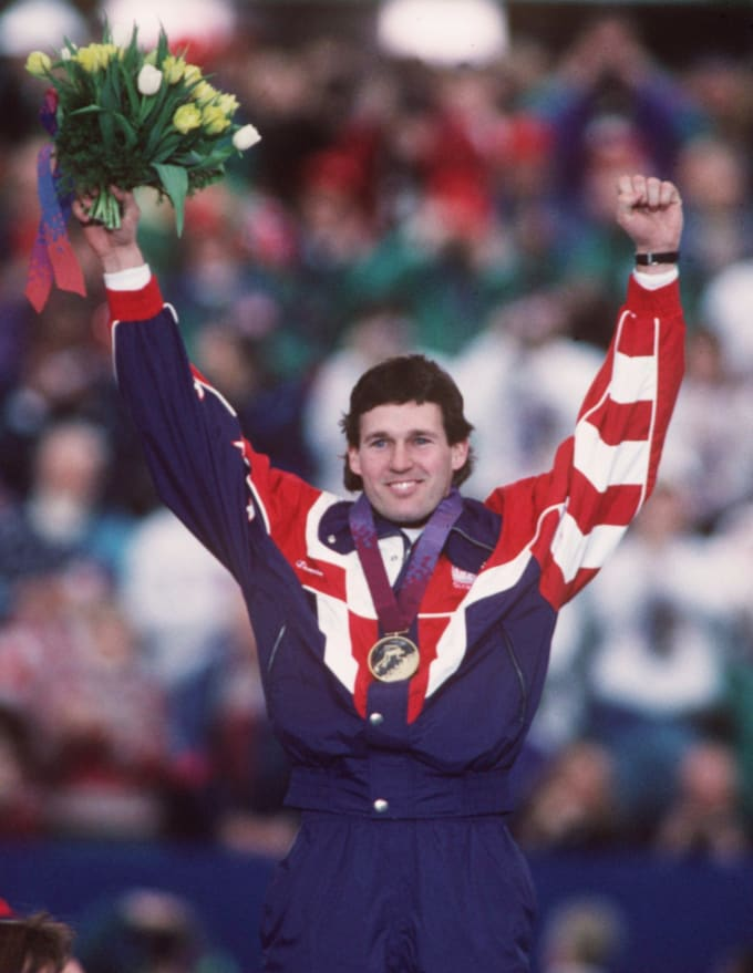 This is a photo of Olympic speed skater Dan Jansen