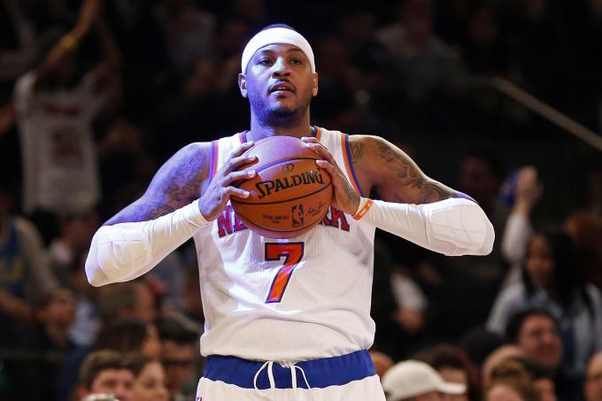 Carmelo Anthony Knicks Thunder 2017 MSG