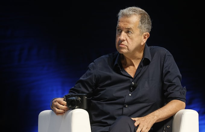 Mario Testino speaking at the Cannes Lions Festival 2017