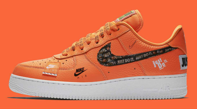 differently 86edf 2c31d Nike Air Force 1 Low Just Do It Orange Release Date AR7719-800 Profile