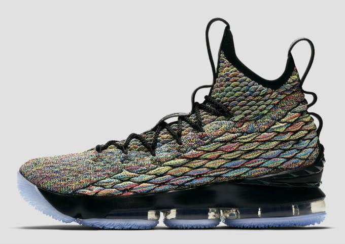 online store b277f 734a6 Nike LeBron 15 XV Four Horsemen Black Fruity Pebbles Release Date 897648-901  Profile
