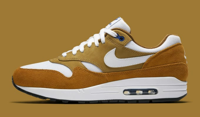 93cdfbf7a6d456 Nike Air Max 1 Curry 2018 Release Date 908366-700 Profile