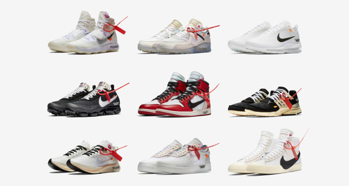 the best attitude 0ca56 d71be off-white-x-nike-the-ten-collection
