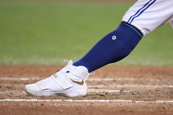 Josh Donaldson Nike LeBron Soldier 10 Cleats Close