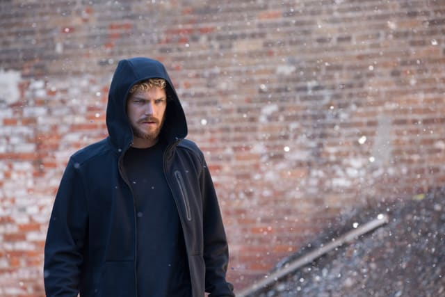 Finn Jones rocking a hoodie as Danny Rand in 'Marvel's Iron Fist'