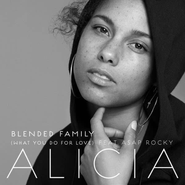 "Alicia Keys' ""Blended Family (What You Do For Love)"" single cover."