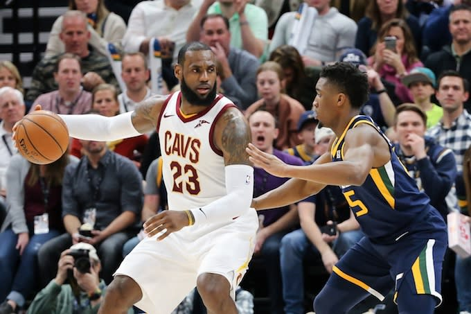 e8f1a3f30d7 Donovan Mitchell Reveals He Was in the Building When LeBron James ...