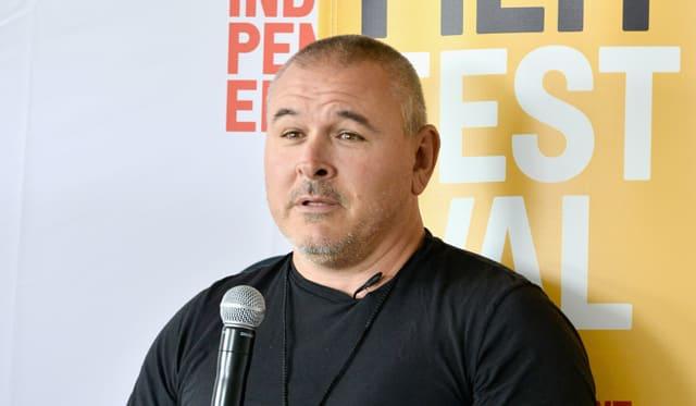 Tim Miller speaks onstage at Coffee Talks: Directors during the 2016 Los Angeles Film Festival