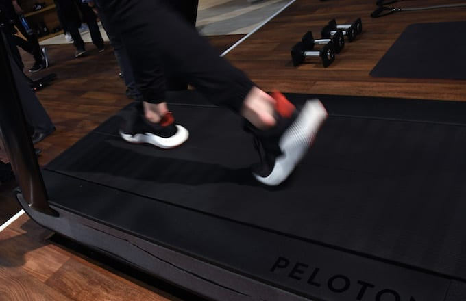 A treadmill at CES 2018