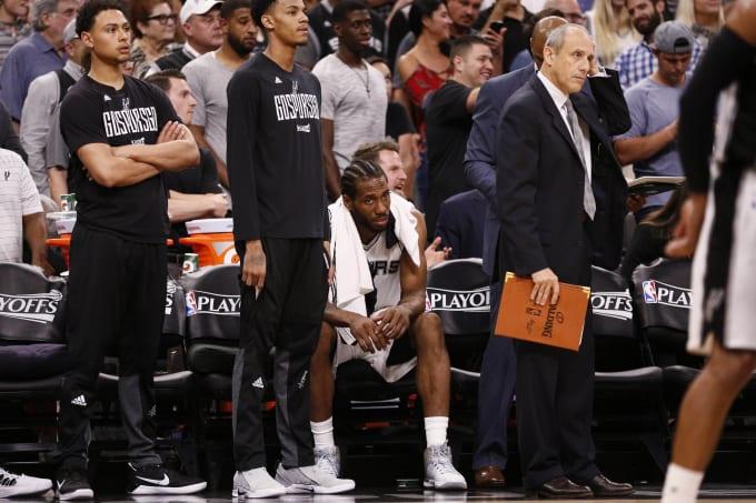 Kawhi Leonard Spurs Rockets Game 5 Bench 2017 11b102fce