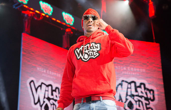 Nick Cannon onstage for Wild'N Out Live.