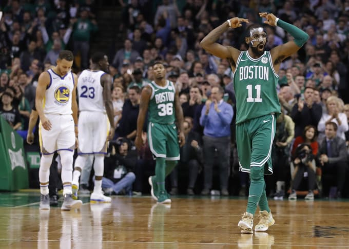 Kyrie Irving Celtics Warriors November 2017