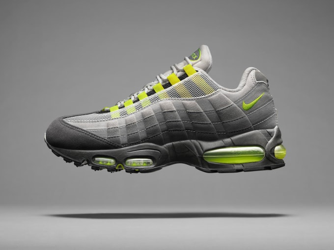 nike air max 95 black grey yellow and white room