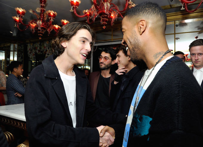 Timothe chalamet reunited with his idol kid cudi complex chalamet cudi resize m4hsunfo