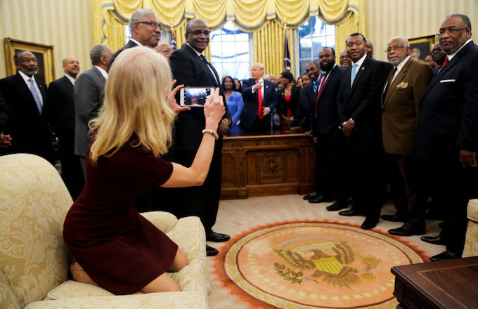 Pic Of Kellyanne Conway Lounging A Little Too Hard In The