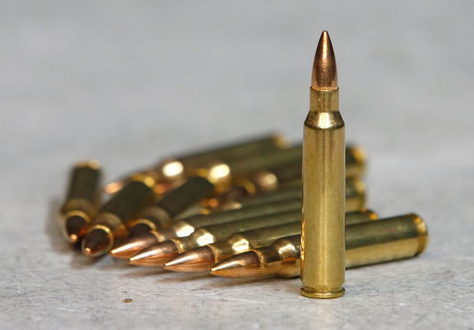 223 ammunition for an AR-15 semi-automatic gun