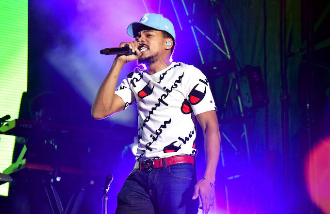 Chance The Rapper performs.