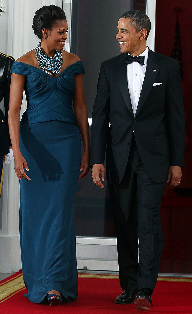 michelle and barack 2012