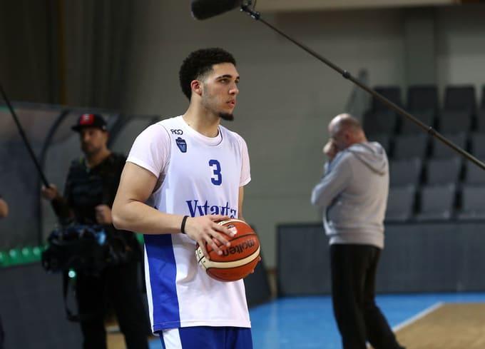 iAngelo Ball with Lithuania Basketball team Vytautas Prienai