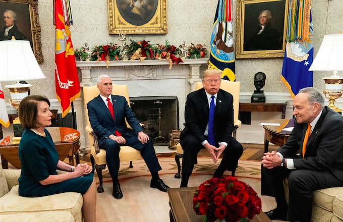 Trump, Pelosi, Schumer