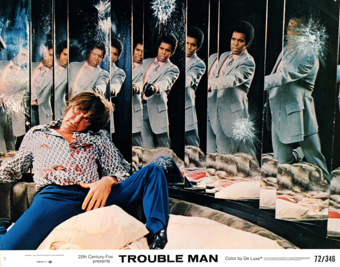 This is the lobby card from Trouble Man.