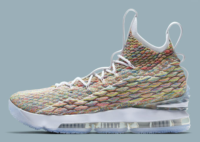 official photos 86025 1832f Nike LeBron 15 Fruity Pebbles White Release Date 897648-900 Profile