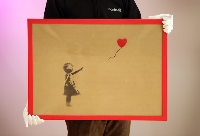 Rendition of 'Girl with a Balloon' in London