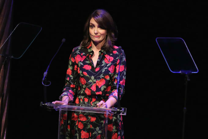 Tina Fey speaks onstage during 33rd Annual Lucille Lortel Awards