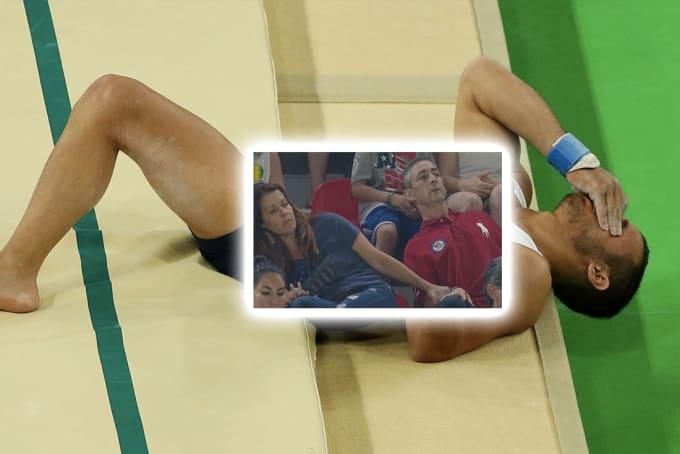 olympics broken leg